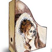 """Для дома и интерьера ручной работы. Ярмарка Мастеров - ручная работа Журнальница с ручной росписью """"Метель"""". Handmade."""