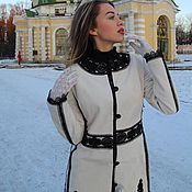 Одежда handmade. Livemaster - original item Velour coat, author`s coat, fur coat.. Handmade.