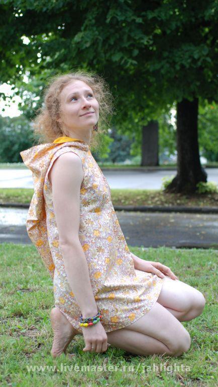 Платья ручной работы. Ярмарка Мастеров - ручная работа. Купить Платье-туника из Сказочного Леса. Handmade. 100% хлопок