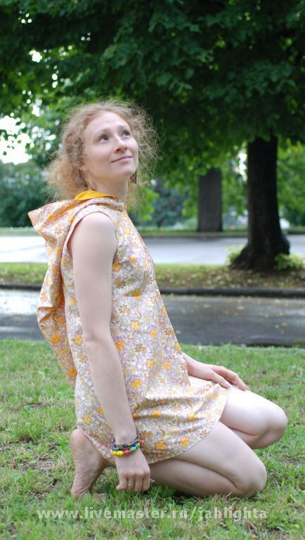 Dresses handmade. Livemaster - handmade. Buy Tunic dress from the Fairy Forest.100% cotton
