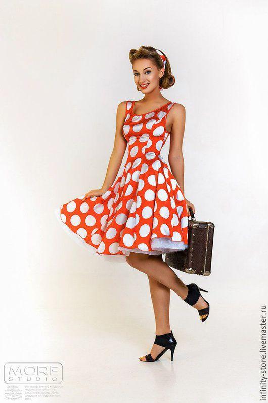 Платья ручной работы. Ярмарка Мастеров - ручная работа. Купить Платье в стиле пин-ап. Handmade. Ярко-красный
