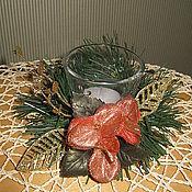 """Подарки к праздникам ручной работы. Ярмарка Мастеров - ручная работа Новогодняя композиция """"Нежность"""". Handmade."""