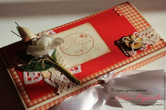 Персональные подарки ручной работы. Ярмарка Мастеров - ручная работа. Купить Шоколадница. Handmade. Ярко-красный, коробочка для шоколада