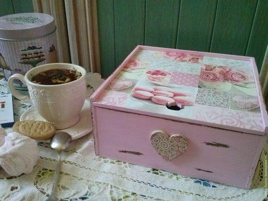 Кухня ручной работы. Ярмарка Мастеров - ручная работа. Купить Чайный короб,декупаж,декор. Handmade. Чайный короб, чай