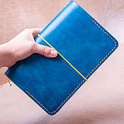 Канцелярские товары handmade. Livemaster - original item Leather diary with elastic band with pockets size A5