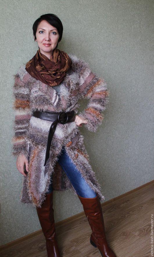 """Верхняя одежда ручной работы. Ярмарка Мастеров - ручная работа. Купить Вязаное пальто """"Манящий беж 2"""". Handmade. Бежевый"""