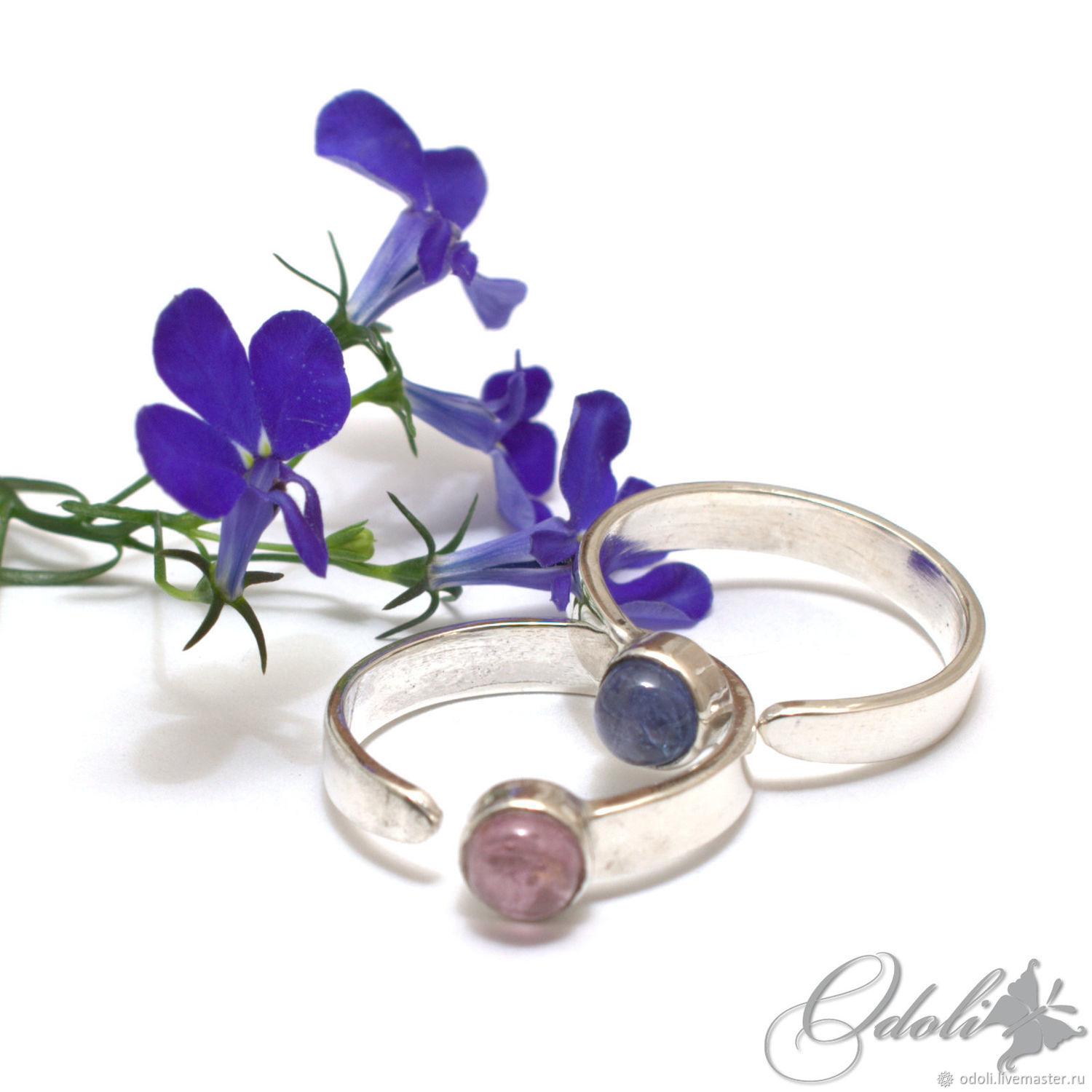 Silver rings in an assortment of stones of different, Rings, Krasnoyarsk,  Фото №1