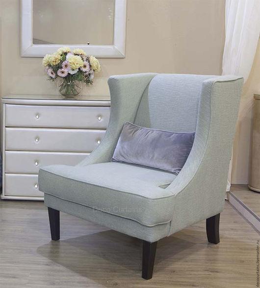 Мебель ручной работы. Ярмарка Мастеров - ручная работа. Купить Biggy Blue Armchair Ar Deco. Handmade. Голубой