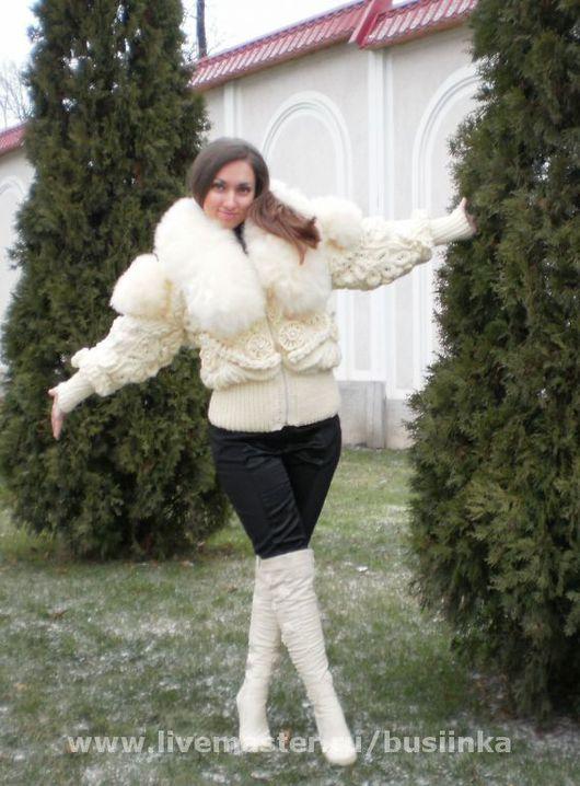 Верхняя одежда ручной работы. Ярмарка Мастеров - ручная работа. Купить Зимняя куртка. Handmade. Пряжа