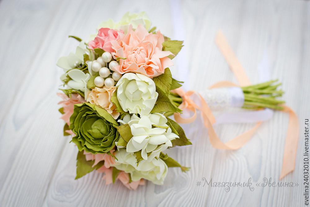 Букеты цимбидиума, свадебный каскадный букет из фома с фрезией