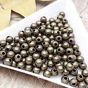 Материалы для творчества handmade. Livemaster - original item 20 PCs. Beads separators 4 mm bronze (2709-B). Handmade.