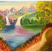 Картины и панно ручной работы. Ярмарка Мастеров - ручная работа Сказочной страны прозрачны воды. Handmade.