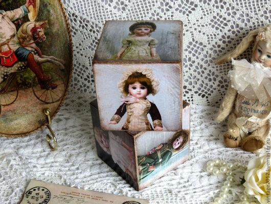 """Детская ручной работы. Ярмарка Мастеров - ручная работа. Купить Кубики """" Антикварные куклы"""". Handmade. Винтаж, детская"""