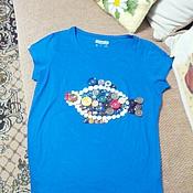 Одежда ручной работы. Ярмарка Мастеров - ручная работа Футболка с рыбкой. Handmade.