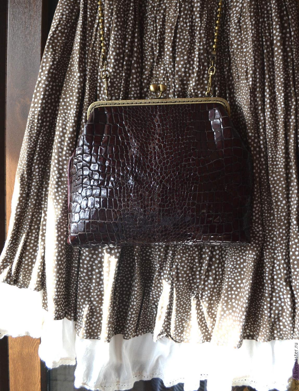 Handbag 'Crocodile', Classic Bag, Moscow,  Фото №1