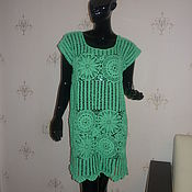 Одежда handmade. Livemaster - original item Beach tunic Turquoise. Handmade.