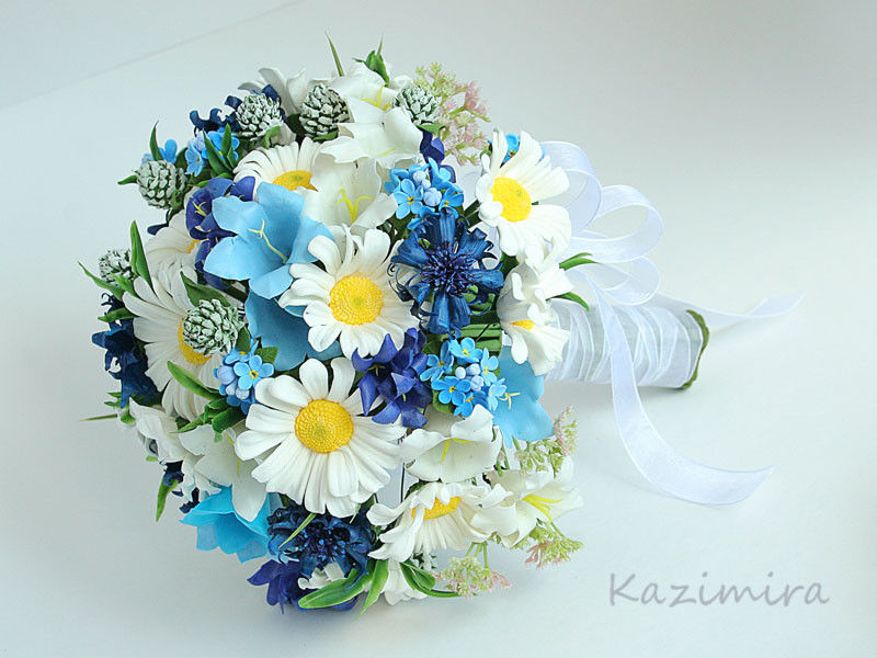 Свадебный букет из полевых цветов своими руками