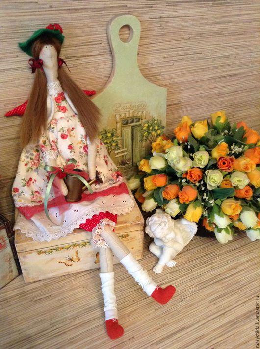 Куклы Тильды ручной работы. Ярмарка Мастеров - ручная работа. Купить Кукла тильда садовница Люсиль фея ангел. Handmade.