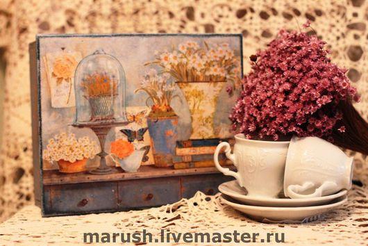 """Кухня ручной работы. Ярмарка Мастеров - ручная работа. Купить Чайная шкатулка """"Воспоминание"""". Handmade. Чайная шкатулка, подарок девушке"""