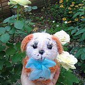 Мягкие игрушки ручной работы. Ярмарка Мастеров - ручная работа Вязаный щенок. Handmade.