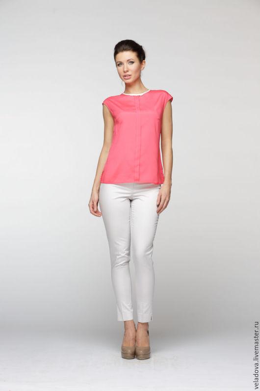 """Блузки ручной работы. Ярмарка Мастеров - ручная работа. Купить Блуза-топ """"Pink"""". Handmade. Коралловый, блузка без рукавов"""