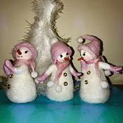 """Куклы и игрушки handmade. Livemaster - original item Валяние """"Три подружки"""". Handmade."""