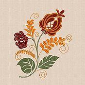 Материалы для творчества handmade. Livemaster - original item Machine embroidery design by Khokhloma bt003. Handmade.