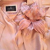 """Украшения ручной работы. Ярмарка Мастеров - ручная работа Брошь Орхидея """"Розовый пепел"""". Handmade."""