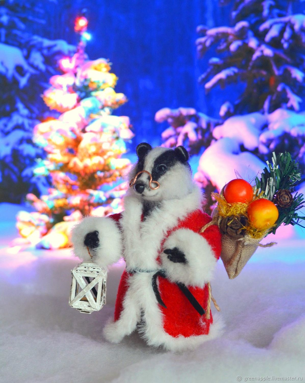felt toy: ' Badger Nord', Felted Toy, Moscow,  Фото №1