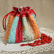 Сумки и аксессуары handmade. Livemaster - original item Colorful textile bag for cosmetics and jewelry. Quilt. Handmade.