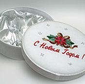 Подарки к праздникам ручной работы. Ярмарка Мастеров - ручная работа Новогодний подарок- бокалы в нарядной коробке. Handmade.