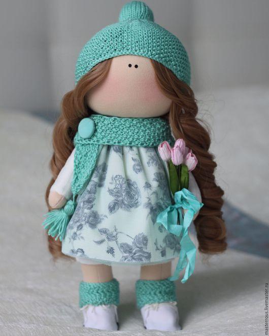 Куклы тыквоголовки ручной работы. Ярмарка Мастеров - ручная работа. Купить Интерьерная кукла. Handmade. Мятный, интерьерная игрушка, хлопок