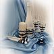 Свадебные аксессуары ручной работы. Свадебное оформление бутылки в морском стиле. Ксения. Ярмарка Мастеров. Морской стиль, бокалы для молодоженов
