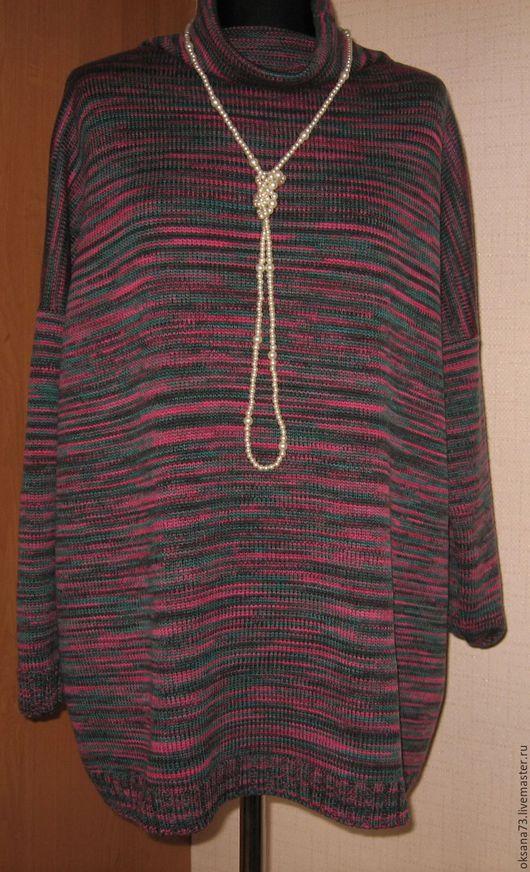 """Кофты и свитера ручной работы. Ярмарка Мастеров - ручная работа. Купить Джемпер """"Миссони"""". Handmade. Тёмно-фиолетовый, джемпер, кашемир"""
