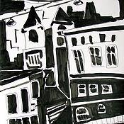 Картины и панно ручной работы. Ярмарка Мастеров - ручная работа Картина. Город. Handmade.