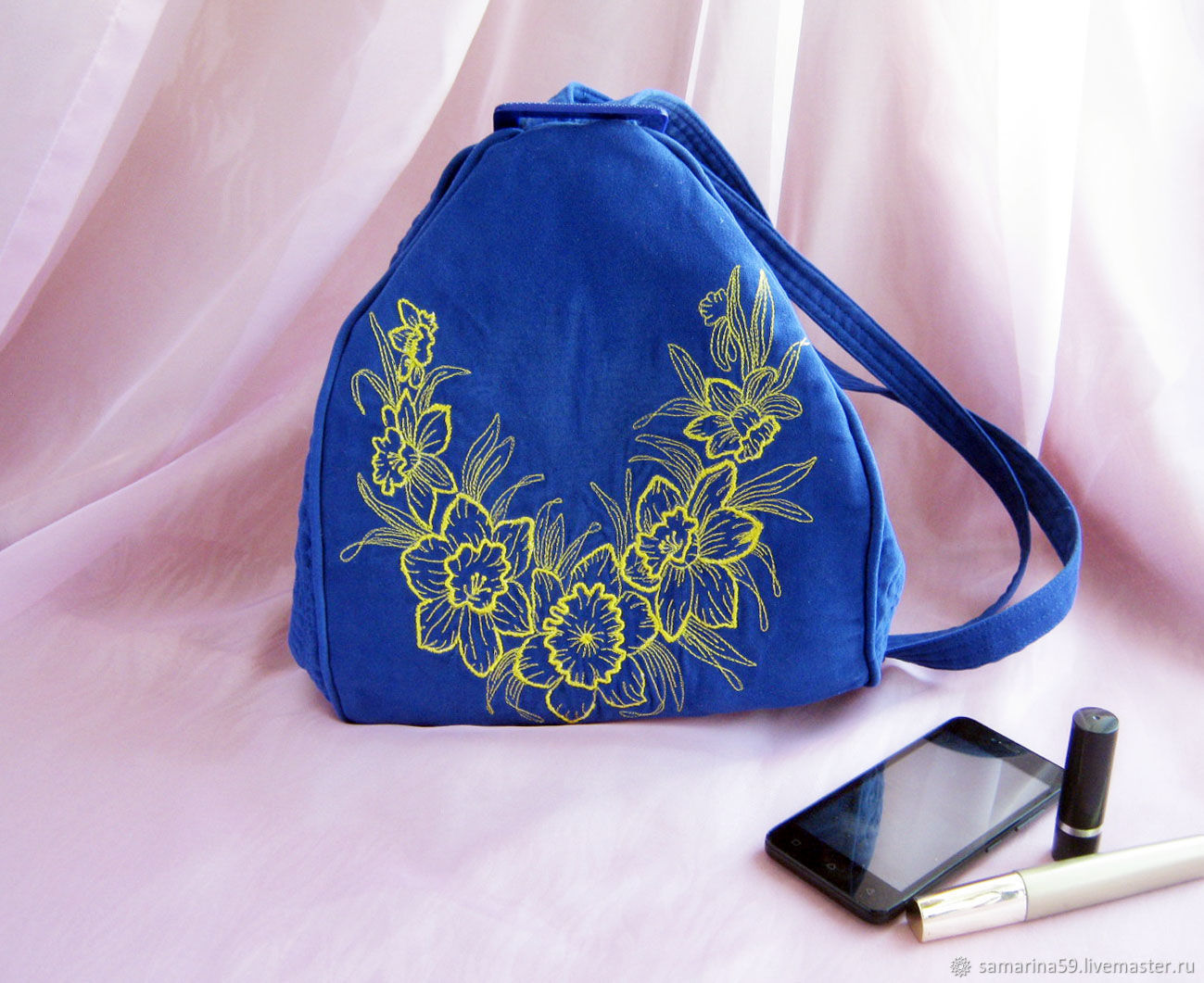 Bag versatile backpack decorated with embroidery textile, Classic Bag, Gelendzhik,  Фото №1