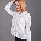 Блуза с вышивкой бисером
