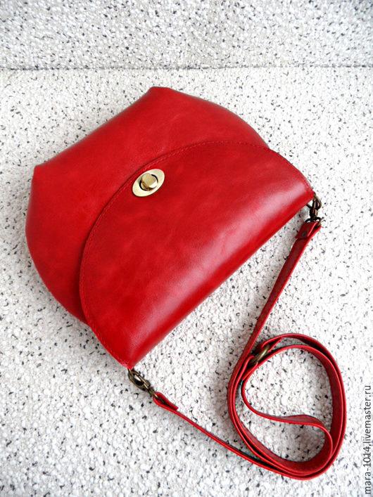 Женские сумки ручной работы. Ярмарка Мастеров - ручная работа. Купить КАЛИНА КРАСНАЯ, кожаная сумочка на подкладке из натуральной замши. Handmade.