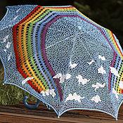 Аксессуары handmade. Livemaster - original item Parasol rainbow!. Handmade.