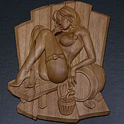 Для дома и интерьера handmade. Livemaster - original item Wooden decor for the bath. Handmade.