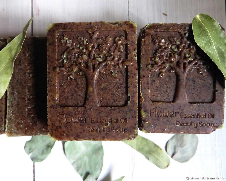 EUCALYPTUS herbal bath soap with powder of eucalyptus leaves and silk, Soap, Anapa,  Фото №1