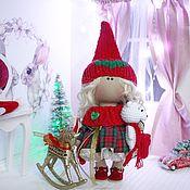 Куклы Тильда ручной работы. Ярмарка Мастеров - ручная работа Новогодний гномик. Handmade.