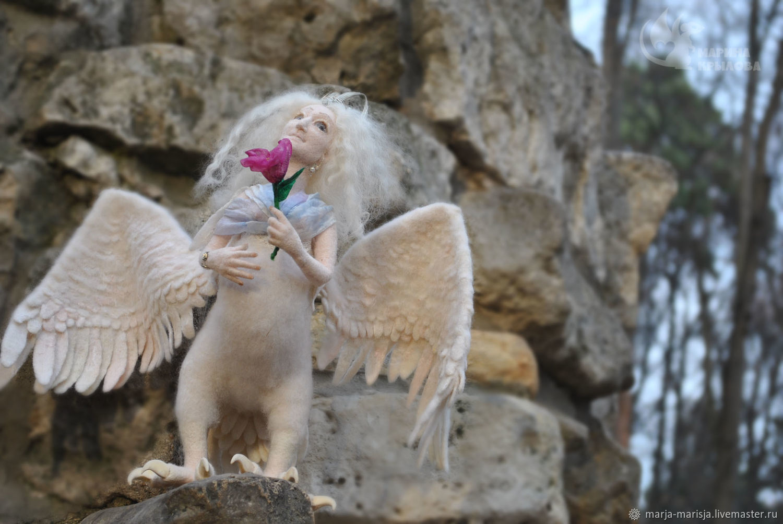 Птица Алконост на счастье, Портретная кукла, Москва,  Фото №1