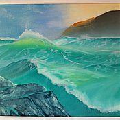 """Картины и панно ручной работы. Ярмарка Мастеров - ручная работа картина маслом """"Теплое море"""". Handmade."""