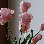 """Цветы и флористика ручной работы. Ярмарка Мастеров - ручная работа """"Тюльпаны"""" букет интерьерный  тюльпанов из полимерной глины.. Handmade."""