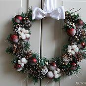 Подарки к праздникам ручной работы. Ярмарка Мастеров - ручная работа Рождественский венок # 3. Handmade.