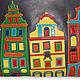 Женские сумки ручной работы. Заказать Кожаная сумка Цветной город. Авторские сумки MAРOBAGS. Ярмарка Мастеров. Апликация