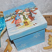 """Для дома и интерьера ручной работы. Ярмарка Мастеров - ручная работа Короб """"Зимушка-зима"""" (для хранения сладостей, елочных игрушек и т.п.). Handmade."""