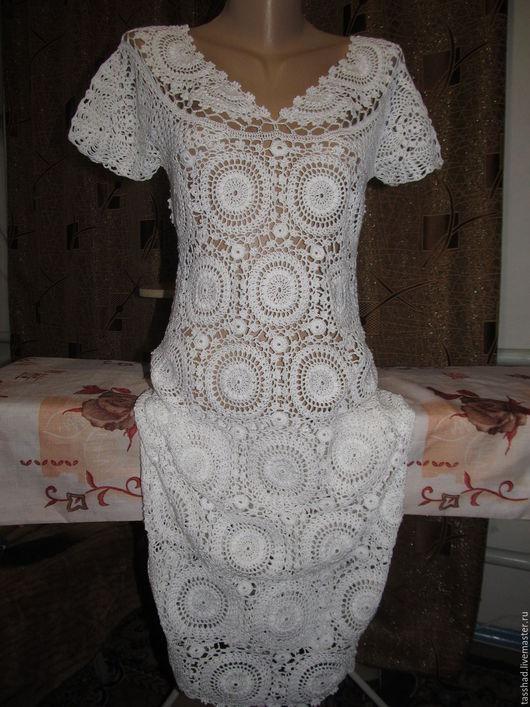 Платья ручной работы. Ярмарка Мастеров - ручная работа. Купить Летнее белое платье. Handmade. Белый, платье летнее