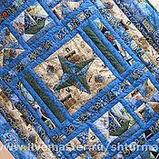 """Для дома и интерьера ручной работы. Ярмарка Мастеров - ручная работа Одеяло """"Морское путешествие"""". Handmade."""
